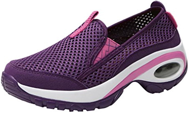 Femme Chaussures Outdoor Casual Chaussures Femme De Sport Chaussures De Ran ÉE ÉPissage Couleur Coutures en Cuir Chaussures...B07JVNRHQMParent 4491c7