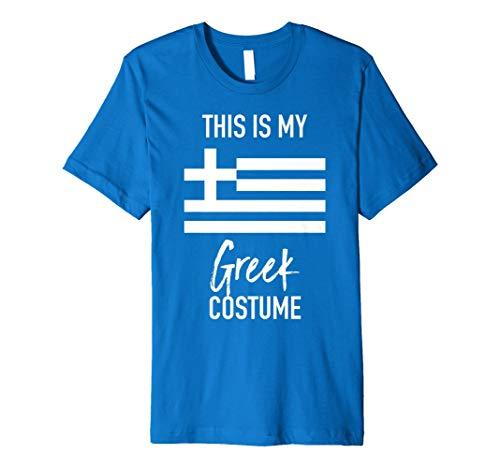 This Is My Griechisch Kostüm T-Shirt–Funny Halloween ()