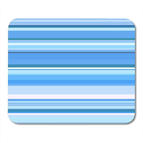 Deglogse Gaming-Mauspad-Matte, Modern Colorful Allpaper Blue Striped Abstract Variable Width Stripes Vertical Color Line White Graphic Mouse Pad,Desktop Computers -