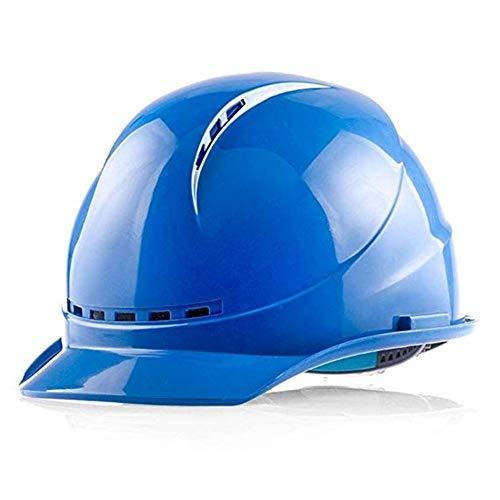 Bauarbeiter Männlich Kostüm - WYNZYSLBD Schutzhelme BAU, Bauarbeiter Helm Belüftung Twist Lock Rad Ratsche Und Schweiß Bauarbeiter Helm Mit Belüftung (Color : White)