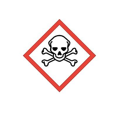 """Gefahrstoffaufkleber """"GHS06: (Sehr) giftig"""", hin_150, 10x10cm, Gefahrstoffsymbol, GHS-Kennzeichnung, Achtung, Warnung, Vorsicht, Hinweis"""