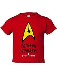 Camiseta niño Star Trek personalizable con tu nombre Capitán de la Enterprise