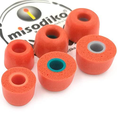 misodiko TWS-Lite Memory Foam In-Ear Kopfhörer Ohrpolster für Jaybird Run, X4, X3, X2, BlueBuds X, Freedom 2 F5 Sprint/Beoplay E8 H3 H4 H5 E4 E6/ Sony WF-SP700N WF-1000X (3 Paar, S/M/L) -