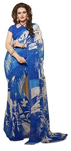 Jay Sares Elegent Designer Saree with abstract and floral prints - Jcsari3009d405c