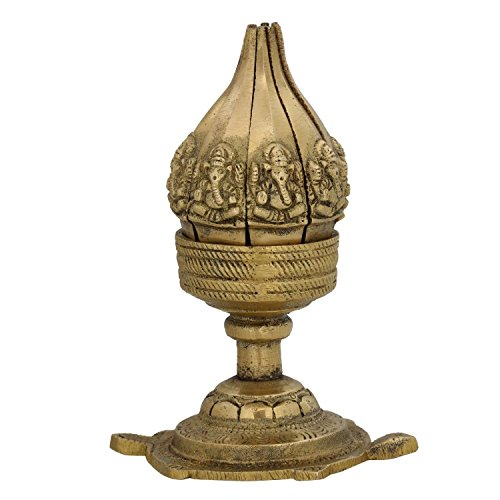 ITOS365 Lotus Flower Brass Lamp Oil Wick Diya Home Décor Gifts, 4.13 Inches