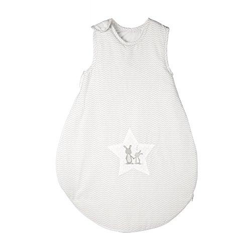roba Schlafsack, 70cm, Babyschlafsack ganzjahres/ganzjährig, aus atmungsaktiver Baumwolle, Schlummersack unisex, Kollektion 'Fox & Bunny'