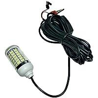 FLFTWSY Luz de Pesca submarina LED 108 Leds 15W Super Brillante Noche Buscador de Pescado Lámpara con Cable de 5 m 12-24V AC/DC, 2835-108SMD-12V, Verde, Medium