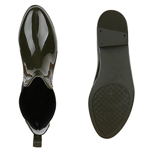 Chelsea Print Stiefeletten Muster Dunkelgrün Damenschuhe Schuhe Lack Damen Blockabsatz Boots Animal T5wUqU0
