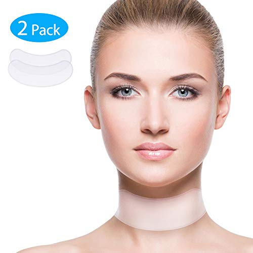 Anti Wrinke Silicone Neck Pad - 2 PCS Collette Neck Pad Wrinkle Pads for Reducing, Eliminating and Preventing Neck Wrinkles