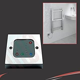 Chrome Thermostatic Wall Controller - 1 to 5 level temperature control and 2 hour boost function