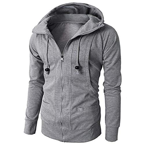 Moonuy 1 PC Männer Mantel Boy Long Sleeve Hoodie Stilvolle Kleidung Herren Herbst Winter Sport Zipper Fit Pullover Bluse Tops Outwear Mantel