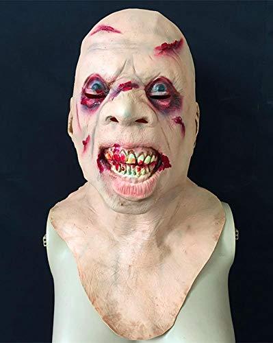 Littlefairy Maske,Halloween Horror Alien Greis Perücke, Geisterhaus TIPP Zahn Vampir Zombie Teufel Maske