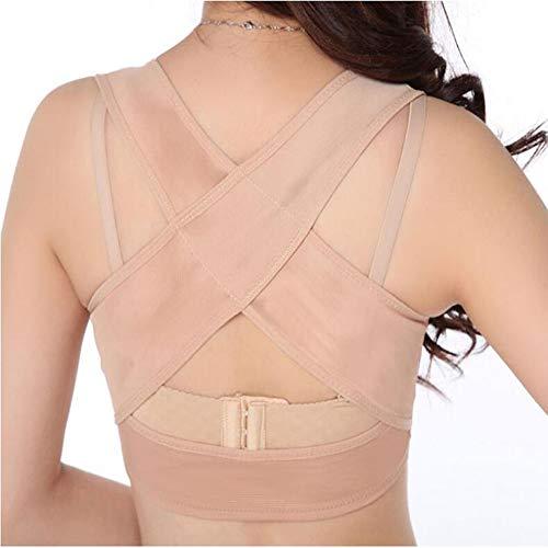 HELIALTH Haltungskorrektur - Bucklige Korrekturgurt-Bruststütze - Sammelt und passt die Bruststütze mit verlängerter Schnalle an,Flesh,L -