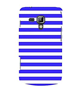 Blue Line Pattern 3D Hard Polycarbonate Designer Back Case Cover for Samsung Galaxy S Duos S7562