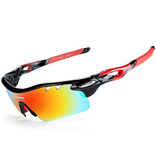 edba9b9678 INBIKE Gafas De Sol Polarizadas para Ciclismo con 5 Lentes Intercambiables  UV400 Y Montuta De TR