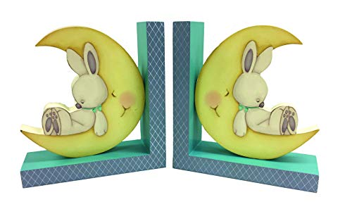Borders Unlimited Sweet Dreams Moon Bookends, Multi -
