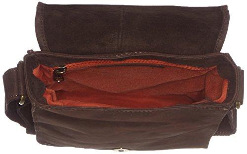 Kleiner Unisex Messenger-Bag / Herrentasche aus geöltem Buffalo Leder . The 'Everyday' Bag. Dark Muskat