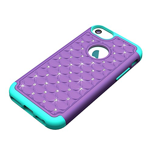 iPhone 7 Plus Hard Case Hülle,iPhone 7 Plus Glitzer Hülle,iPhone 7 Plus Transparent Hülle,iPhone 7 Plus Crystal Clear Case Hülle Klare Cristall Liquid Bling Schutzhülle Etui für iPhone 7 Plus 5.5 Zoll D Bling Case 2