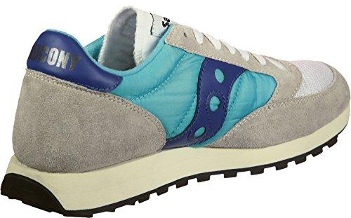 Saucony jazz original vintage, sneaker unisex – adulto, bianco (white/blue 19), 40.5 eu