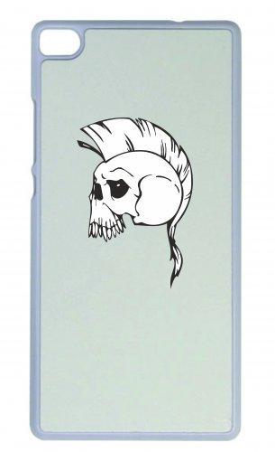 Smartphone Case Punker Teschio con irokesen Rock scheletro rocker Frecce Club Gothic Biker Skull Emo Old School per Apple Iphone 4/4S, 5/5S, 5C, 6/6S, 7& Samsung Galaxy S4, S5, S6, S
