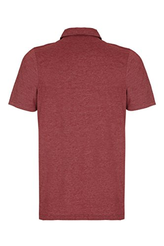 Barror London Herren Poloshirt Burgundy Marl