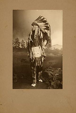 Et Costume Melbourne - POSTER Portrait Frank Paterson Brown wearing native