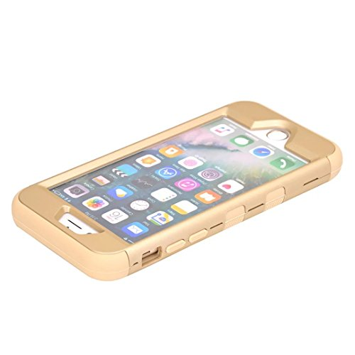 "iPhone 7 Hülle,Lantier Eleganter Luxus verzierte Bling Strass Design 3 Stück Art Dual Layer Hybrid Stoß harten Autoschutzhülle für iPhone 7 4.7"" 2016 Schwarz+Pink Cute Rhinestone Gold+Yellow"