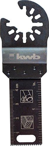 KWB 49709152 - Hoja cortadora para diversos materiales (22 mm, universal a todas las multi-herramientas, Akku-Top)