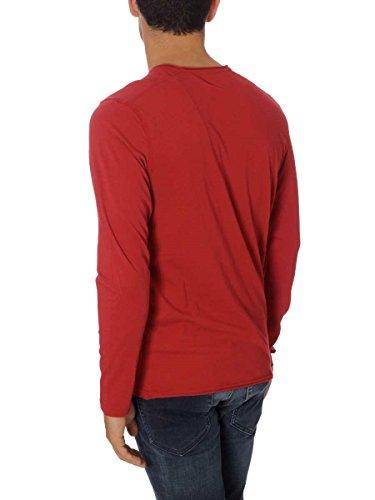 NAPAPIJRI Mann T-Shirt m / l N0YFSE094 SAARO LS 094-Old Red (Rosso S