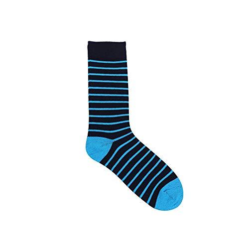 Socken für Sie und Ihn - Cotton classic bequem ohne drückende Naht - angenehmer Komfort-Bund,Gestreifte Schlauch-Baumwollsocken für Herren und Damen 5 Paar A4 36-43 -