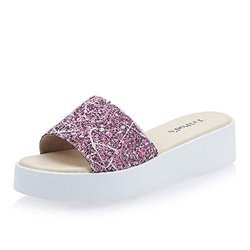 mode plate-forme chaussons à la fin de la femme/porte des sandales en été/Lady coréen loisirs Outdoor chaussons C