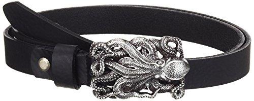 MGM Damen Gürtel Oktopus, Einfarbig, Gr. 105 cm, Schwarz (schwarz 1)
