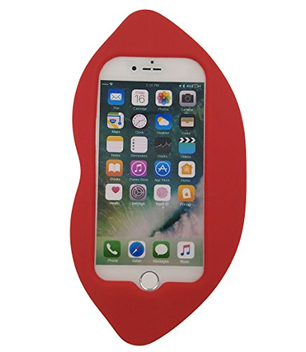 iPhone 7 Plus Hülle, BENKER Hochwertig Schlagfeste und Kratzfeste Weich Silikon Kreativ 3D Cartoon Telefon Fall - Lippen 1 Lippen 1