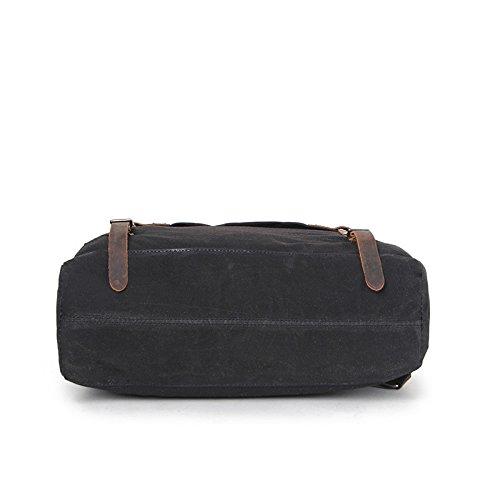 Mefly Chiusura Lampo Borsa A Tracolla Zipper Colore Puro Strato Di Testa Borsa Di Tela Arancione black