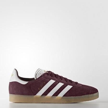 adidas Gazelle Schuhe 12,5 maroon/white -