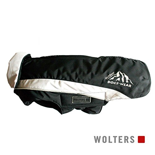 Wolters | Skijacke Dogz Wear wasserdichtem RV schwarz/grau | Rückenlänge 38 cm