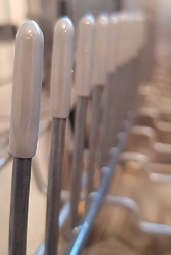 Schutzkappen für Spülmaschinenkörbe |Schützen vor Rost, stoppen neuen Rost auf Zinken und schützen Geschirr, Glas und Besteck vor Schäden | 100er Set | Für alle Spülmaschinen-Modelle geeignet | 100% Zufriedenheitsgarantie !