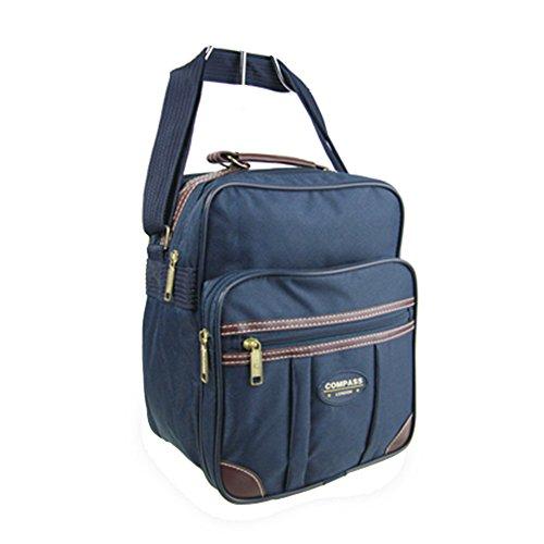 Friendz Trendz-Flight Tasche mit braunen PU Trimmweg Fracht Holdall Duffle Bag (navy) navy