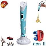LANMU 3D stampante penna 100B stampa 3D Penna 3D penna di stampa intelligente con schermo LCD da 1,75 millimetri ABS filamento e adattatore di alimentazione perfetta Arts & Crafts Disegno penna fai da te