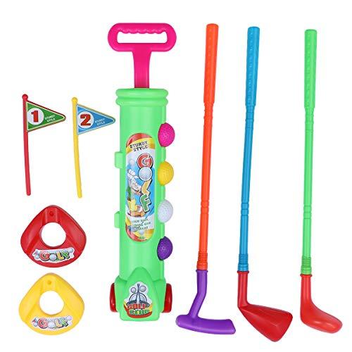 LIOOBO Kinder Golf Spielzeug Mini Golf Outdoor Sport Spielzeug für Kleinkinder Kinder Babys (grün)