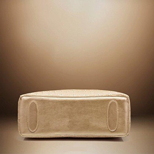 Pahajim 2017 klassische Art und Weise vierteilige Mutterbeuteldamehandtasche Schwarz