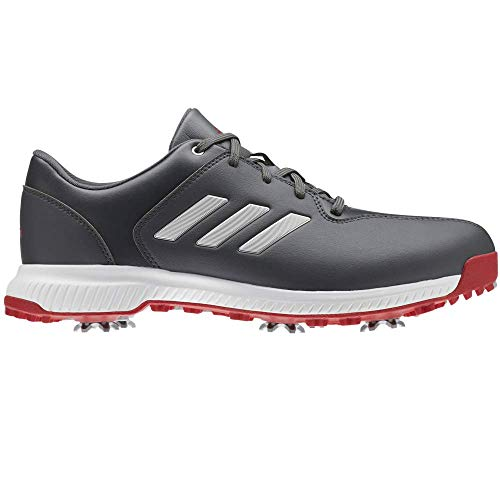 adidas Men's Cp Traxion Golf Shoes Grey (Blanco/Rojo/Gris Bb7905) 11 UK