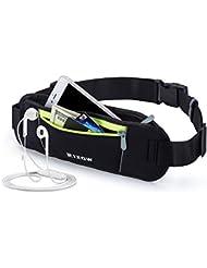 Riñonera para Corredores,Rixow Bolsillo de Cintura Con un gran bolsillo para el Cable del Auricular Para el Iphone 6S/ 6 Plus y los cambios