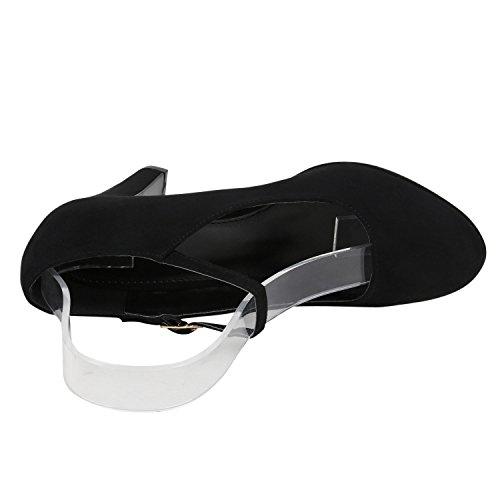 Stiefelparadies Chaussures Fermées Femmes Schwarz Velours Basic
