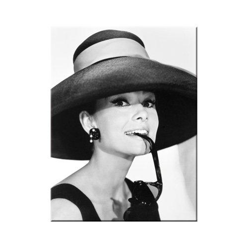 Nostalgic-Art 14235 Breakfast at Tiffany's - Audrey - Hat & Glasses, Magnet 8x6 cm