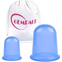 Gempack Set de Terapia con Ventosas Chinas de Silicona Para Masaje Cupping Anti Celulitis Relajación Muscular, Pérdida de Peso, Reductor de Arrugas, Antienvejecimiento