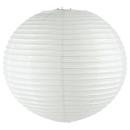 Runde Papierlampe/kugelförmiger Lampenschirm, Papier, Kugel, 60 cm Ø, grau