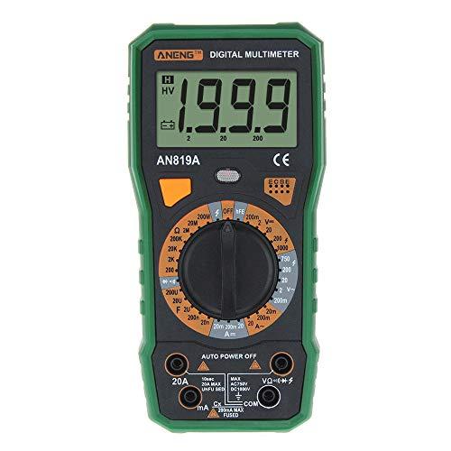Digital Multimeter, Jamicy® ANENG Auto Digital Multimeter AC DC Spannung 1000 V 1999 Zählen Strom Ohm Cap Meter Tester Data Hold Diode Transistor Test (Grün) -