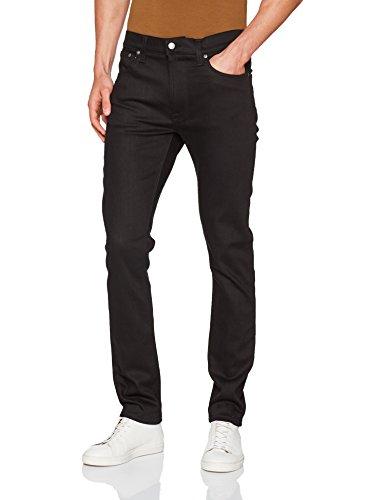 Nudie Jeans Herren Jeans Slim Lean Dean Nero (Dry Black Oblivion)