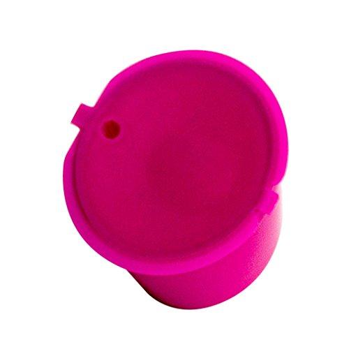 Unbekannt 1 Paar Kaffee Kapseln Nachfüllbare Wiederverwendbare Löffel Pinselchen - Pink